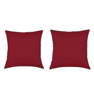 NWOT Air Canada burgundy pillow cover set